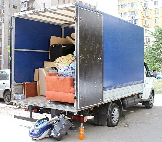 переезд в другой город перевозка вещей на Газели