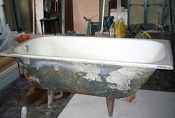 вывоз чугунной ванны в Твери